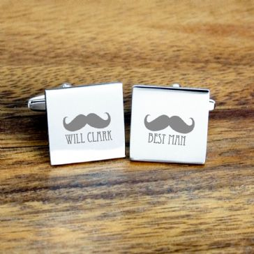 Moustache Best Man Cufflinks